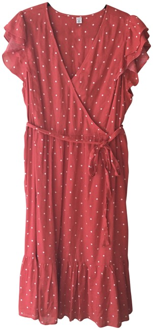 Item - Red and White Summer Mid-length Casual Maxi Dress Size 18 (XL, Plus 0x)