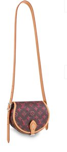 Item - Tambourin Brown and Pink Calfskin Leather Cross Body Bag