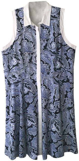 Item - Blue Black and White Summer Short Casual Dress Size 18 (XL, Plus 0x)