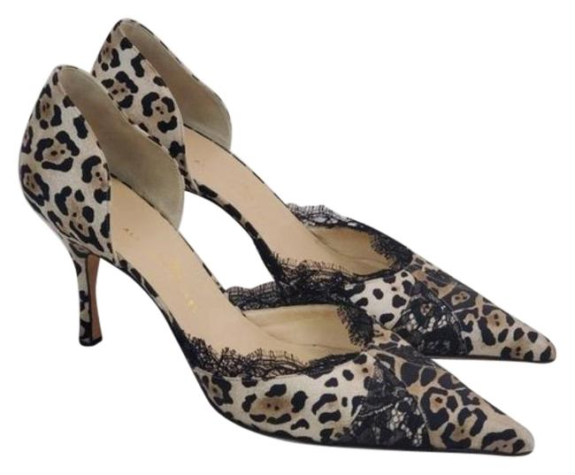 Item - Brown / Black / Cream Stain Leopard Prints Stain Fabric Upper / Leather Lining Mules/Slides Size EU 40 (Approx. US 10) Regular (M, B)