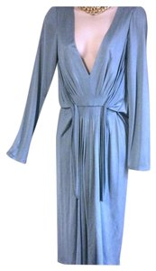 Alberta Ferretti Deep V Neck Draped 10 Dress