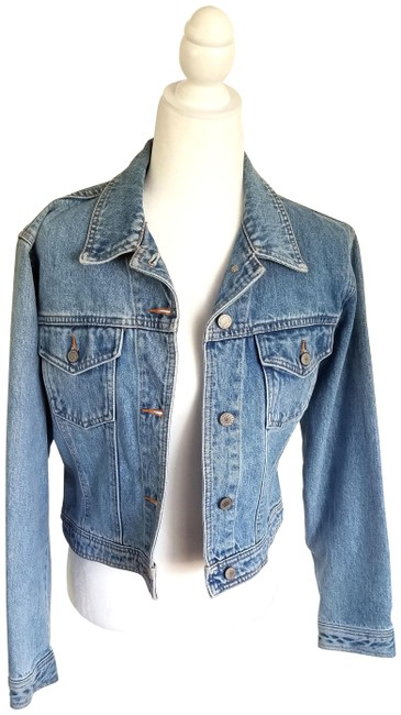 Item - Jean Classical Cropped Jacket Size 8 (M)