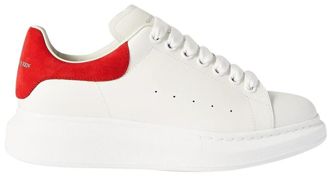 Item - White Suede-trimmed Leather Exaggerated-sole Sneakers Size EU 39.5 (Approx. US 9.5) Regular (M, B)