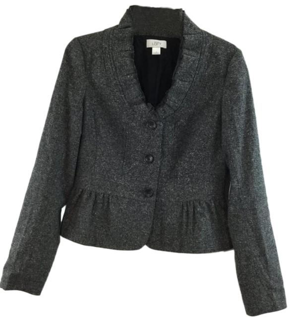 Item - Gray Tweed 3 Button Long Sleeves Jacket Size 2 (XS)