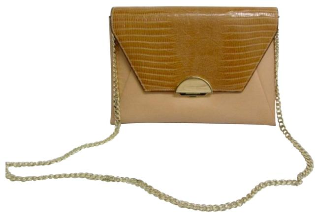 Item - Clutch Madelina Convertible Shoulder/Clutch Tan Leather Cross Body Bag