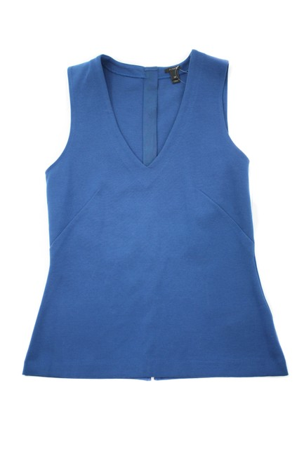 Item - Blue Structured V-neck Shell X-small New with Tags Tank Top/Cami Size 2 (XS)