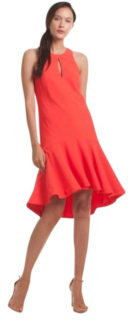 Item - Ladybug-coral Orange Red Petal Mid-length Night Out Dress Size 6 (S)