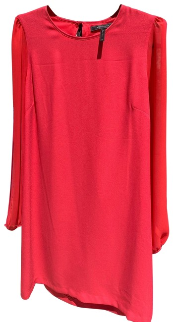Item - Red A-line Open Sleeve Short Formal Dress Size 2 (XS)