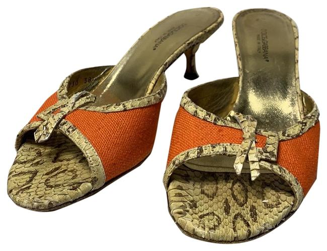 Item - Orange and Gold 48 Pumps Size EU 38.5 (Approx. US 8.5) Regular (M, B)