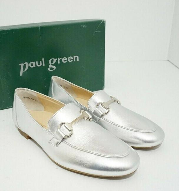 Paul Green Silver Oakland Women's Flats Slip On Loafers Leather Athletic Size US 7 Regular (M, B) Paul Green Silver Oakland Women's Flats Slip On Loafers Leather Athletic Size US 7 Regular (M, B) Image 2