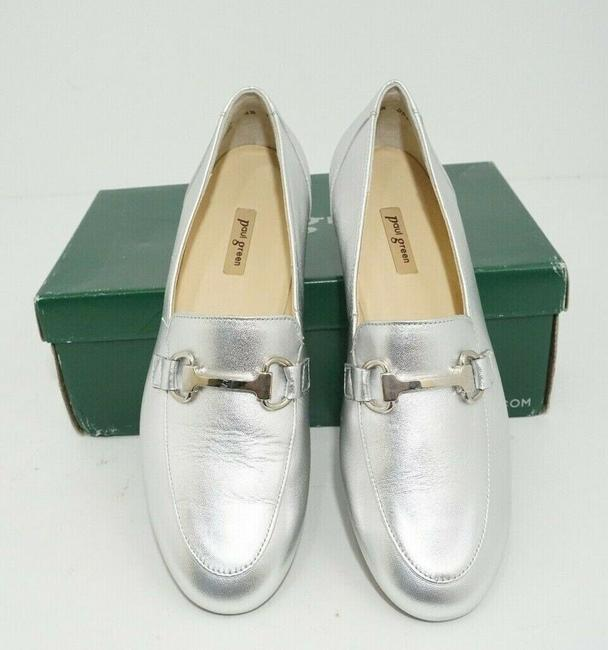 Paul Green Silver Oakland Women's Flats Slip On Loafers Leather Athletic Size US 7 Regular (M, B) Paul Green Silver Oakland Women's Flats Slip On Loafers Leather Athletic Size US 7 Regular (M, B) Image 11