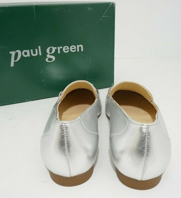 Paul Green Silver Oakland Women's Flats Slip On Loafers Leather Athletic Size US 7 Regular (M, B) Paul Green Silver Oakland Women's Flats Slip On Loafers Leather Athletic Size US 7 Regular (M, B) Image 4