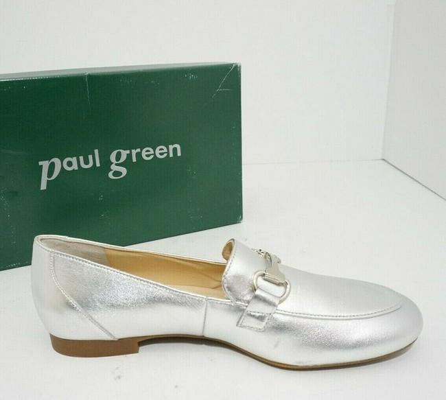 Paul Green Silver Oakland Women's Flats Slip On Loafers Leather Athletic Size US 7 Regular (M, B) Paul Green Silver Oakland Women's Flats Slip On Loafers Leather Athletic Size US 7 Regular (M, B) Image 5