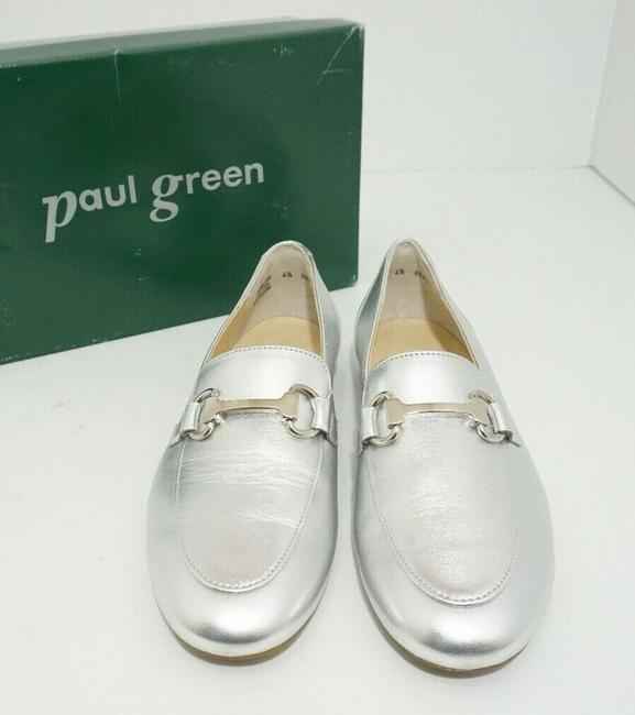 Paul Green Silver Oakland Women's Flats Slip On Loafers Leather Athletic Size US 7 Regular (M, B) Paul Green Silver Oakland Women's Flats Slip On Loafers Leather Athletic Size US 7 Regular (M, B) Image 6