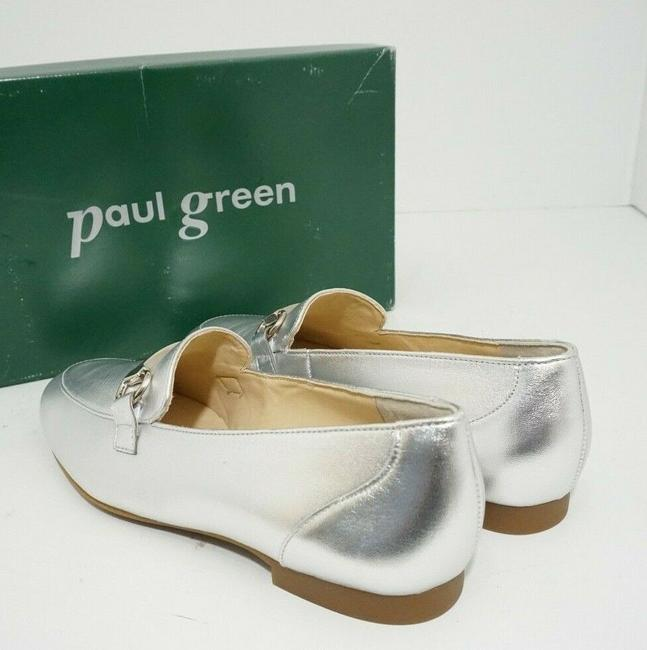 Paul Green Silver Oakland Women's Flats Slip On Loafers Leather Athletic Size US 7 Regular (M, B) Paul Green Silver Oakland Women's Flats Slip On Loafers Leather Athletic Size US 7 Regular (M, B) Image 8