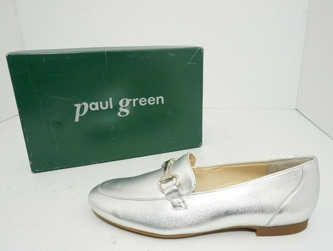 Paul Green Silver Oakland Women's Flats Slip On Loafers Leather Athletic Size US 7 Regular (M, B) Paul Green Silver Oakland Women's Flats Slip On Loafers Leather Athletic Size US 7 Regular (M, B) Image 9