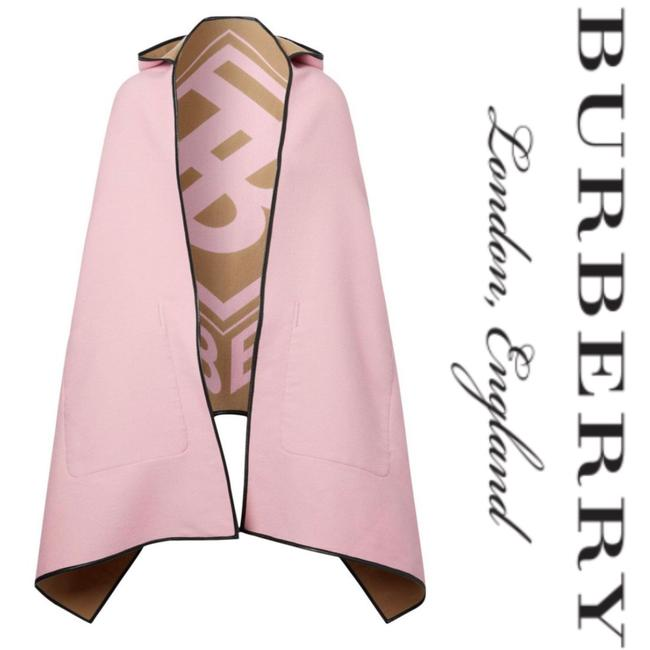 Item - Pink & Cream Wool Tb Monogram Cape*nwt Poncho/Cape Size OS (one size)