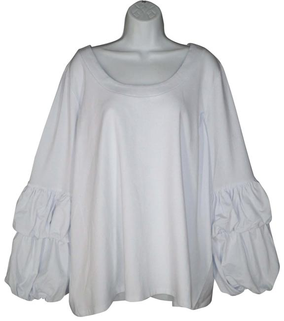 Item - Puff Sleeve Knit Blouse Size 24 (Plus 2x)