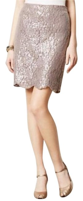 Item - Taupe Sequin Skirt Size 6 (S, 28)