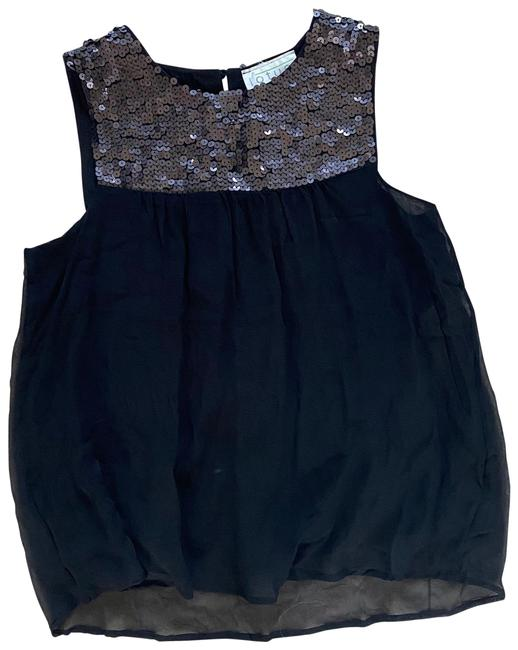 Item - Black Silver Like New Sequin Small Blouse Size 4 (S)