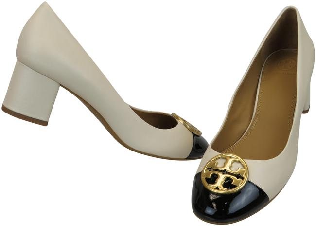 Item - Cream Chelsea 50 Black Leather Cap Toe Gold Reva Pumps Size US 9 Regular (M, B)