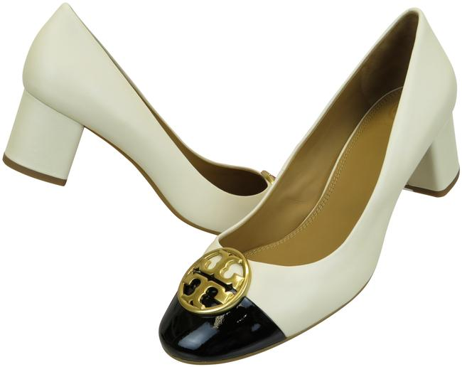 Item - Cream Chelsea 50 Black Leather Cap Toe Gold Reva Pumps Size US 8 Regular (M, B)