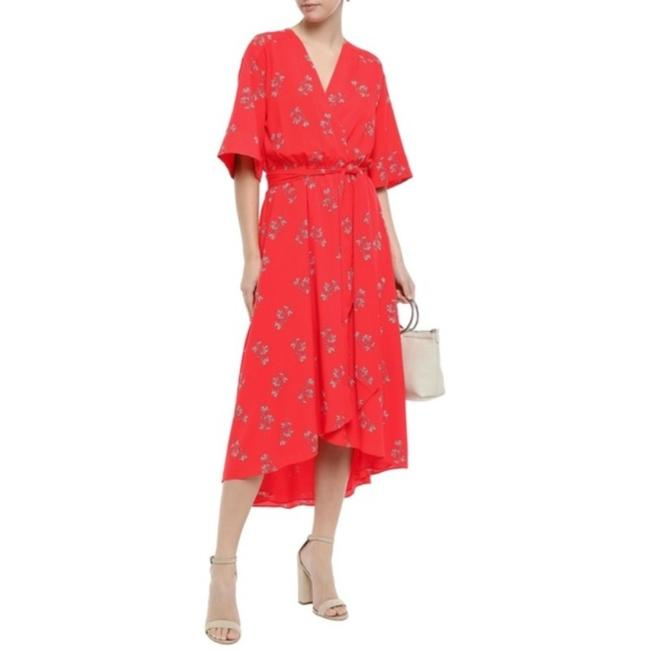 Item - Red White Daymon B Midi Wrap Mid-length Casual Maxi Dress Size 0 (XS)