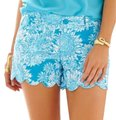 Lilly Pulitzer Blue and White Lion In The Sun Shorts Size 00 (XXS, 24) Lilly Pulitzer Blue and White Lion In The Sun Shorts Size 00 (XXS, 24) Image 1