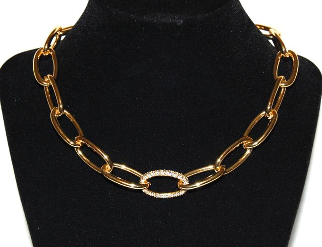 Vince Camuto Gold-tone Oval Link Chain Crystal Necklace Vince Camuto Gold-tone Oval Link Chain Crystal Necklace Image 1
