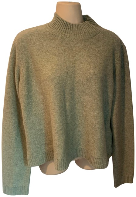 Item - Merino Wool Mock Turtleneck Sage Green Sweater