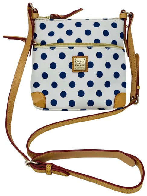 Item - Polka Dots Nwot Blue and White Leather Cross Body Bag