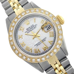Rolex WOMENS ROLEX DATEJUST MOTHER OF PEARL DIAMOND TWO TONE WATCH