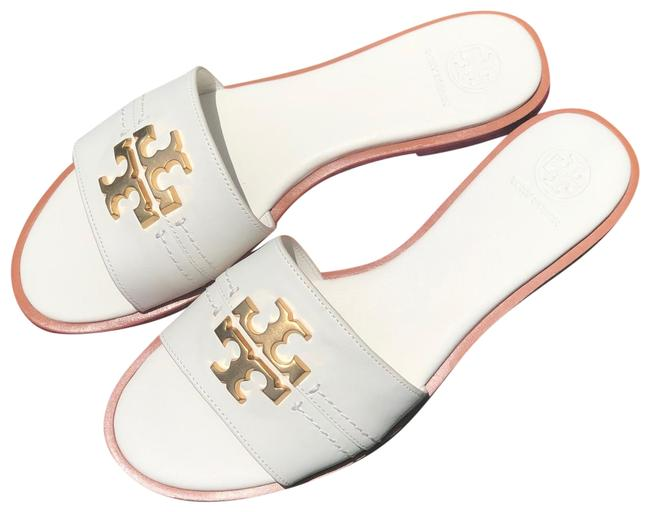 Tory Burch Ivory Everly Slide Sandals Size US 9 Regular (M, B) Tory Burch Ivory Everly Slide Sandals Size US 9 Regular (M, B) Image 1