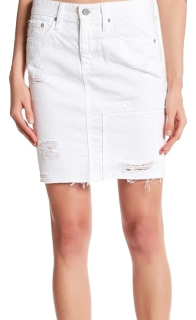 AG White Erin Distressed Pencil Skirt Size 8 (M, 29, 30) AG White Erin Distressed Pencil Skirt Size 8 (M, 29, 30) Image 1