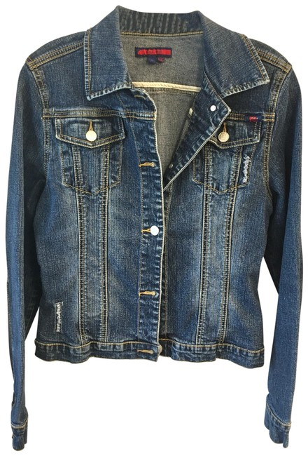 Item - Blue Nwot Jean Faded with Fraying Jacket Size 12 (L)