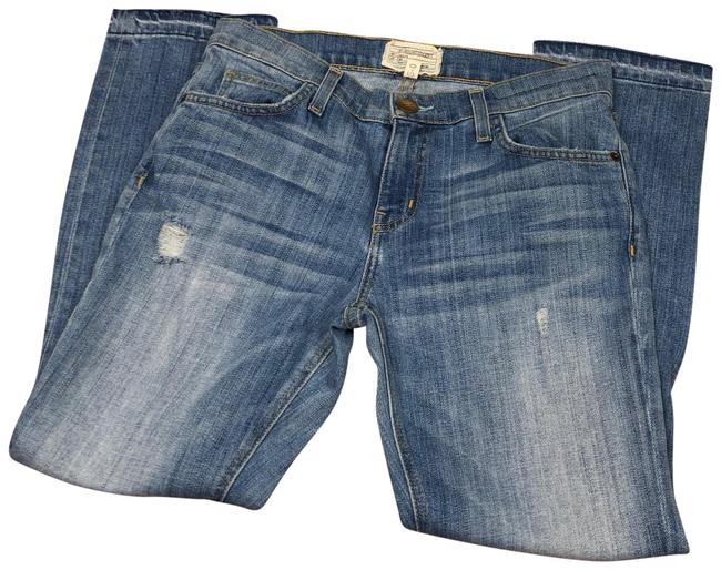 Item - Blue Distressed The Cropped Straight Leg Jeans Size 0 (XS, 25)