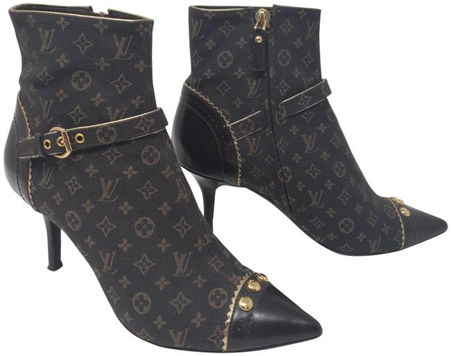 Item - Brown Lv Monogram Idylle Pointed-toe Boots/Booties Size EU 37 (Approx. US 7) Regular (M, B)