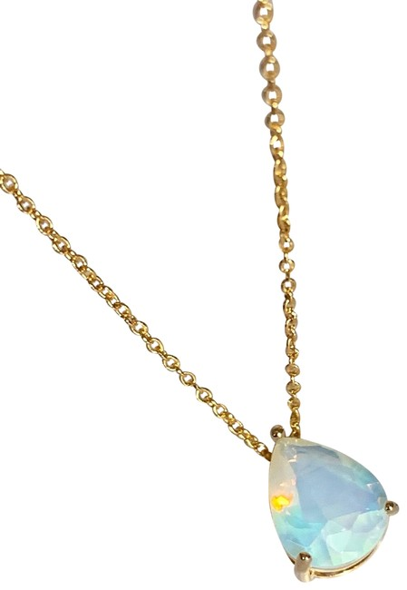 Item - Pear Drop Glass Moonstone Necklace