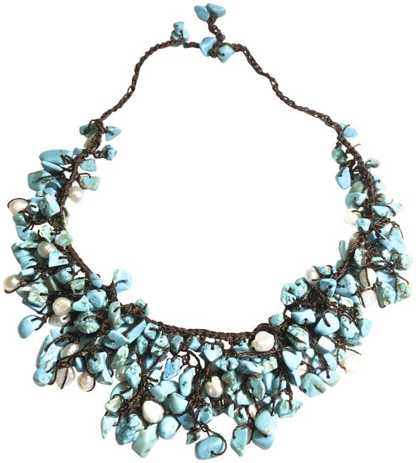 Turquoise Freshwater Pearl Necklace Turquoise Freshwater Pearl Necklace Image 1