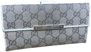 Gucci GG141 GG Canvas Long Bifold Wallet