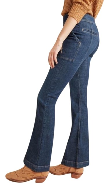 Item - Blue Medium Wash Pilcro and The Letterpress High Rise Utility Boot Cut Jeans Size 26 (2, XS)