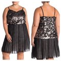 1.STATE Sequin Black & Silver Top 1.STATE Sequin Black & Silver Top Image 3
