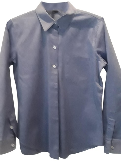 Item - Blue Perfect. Button-down Top Size 4 (S)