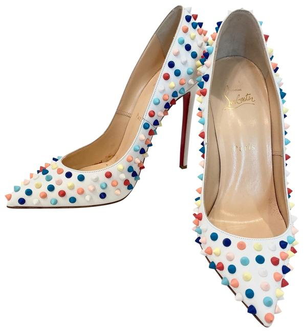 Item - White Multi Studded So Kate Pumps Size EU 40.5 (Approx. US 10.5) Narrow (Aa, N)