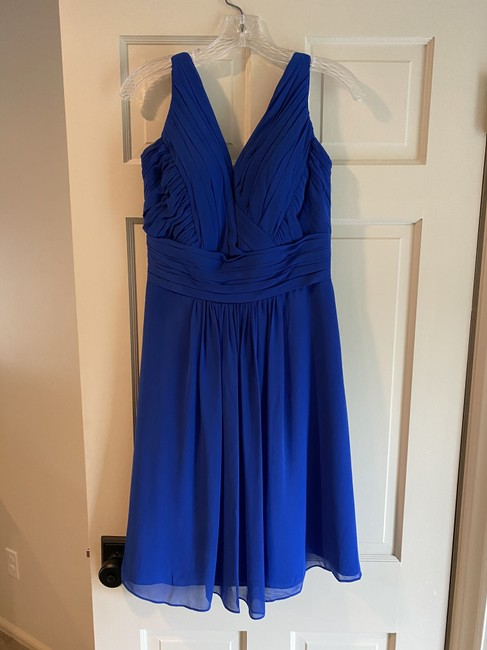 Item - Blue (Horizon) Chiffon 762 Formal Bridesmaid/Mob Dress Size 10 (M)