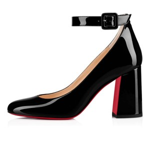 Christian Louboutin Sandals Asymmetric Pvc Black Pumps