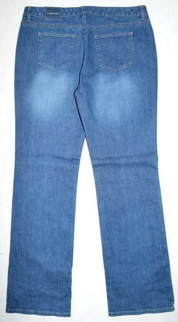 Lands' End Denim Straight Leg Jeans