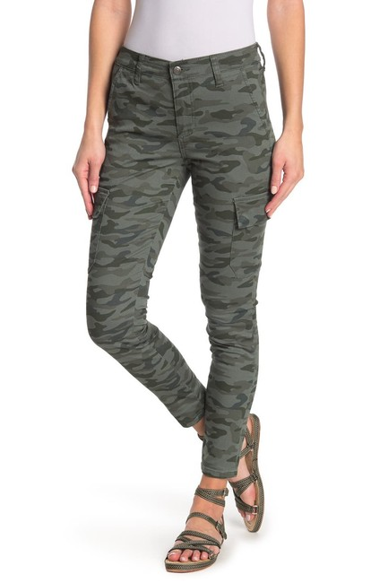 Item - Green Camo Print Mid Rise Utility Ankle Skinny Jeans Size 26 (2, XS)