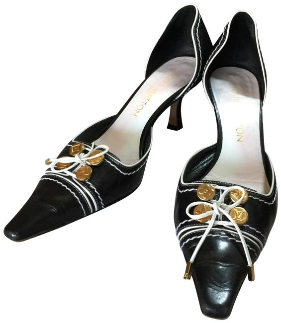 Item - Black Gold Yellow 'sophie' Italy Pumps Size EU 37 (Approx. US 7) Regular (M, B)