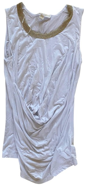 Item - White and Gold Drape Like Small Blouse Size 4 (S)